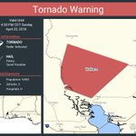 Image for the Tweet beginning: Tornado Warning continues for Wallace
