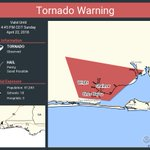 Image for the Tweet beginning: Tornado Warning continues for Wright