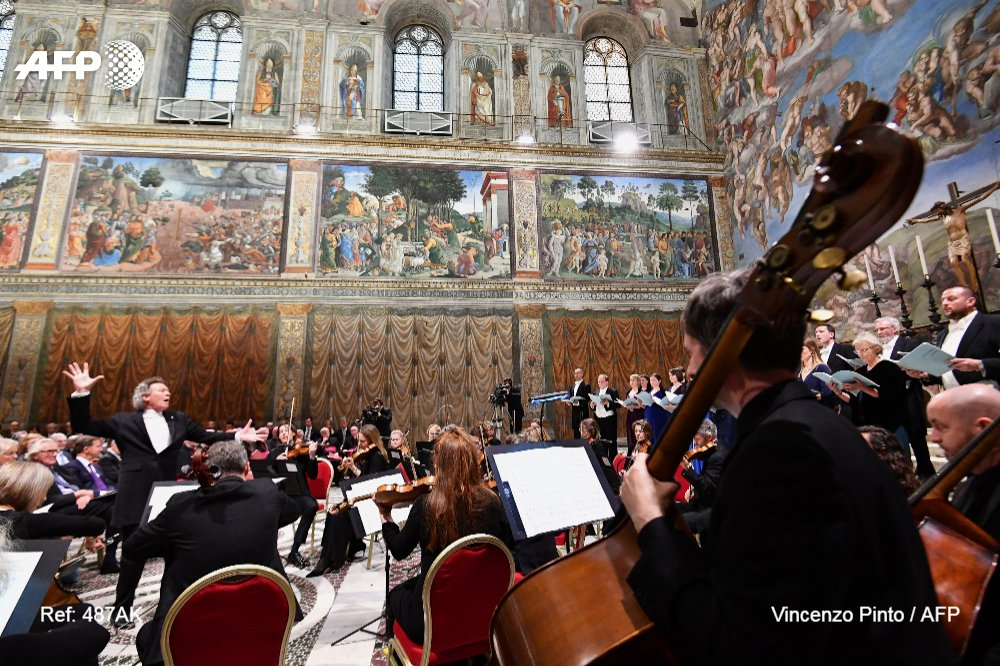 Vatican's Sistine Chapel hosts first live online concert https://t.co/vrWUMPOLfS