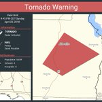 Image for the Tweet beginning: Tornado Warning continues for Abbeville