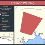 Image for the Tweet beginning: Tornado Warning continues for Okaloosa