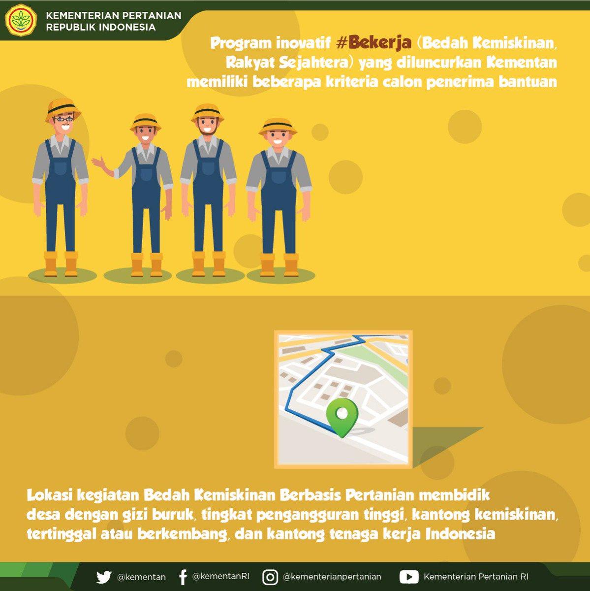 Kementerian Pertanian Ri On Twitter Bekerja Atau Bedah Kemiskinan
