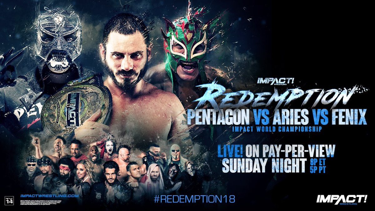 It's #REDEMPTION18 time! What are you excited for? Should be a good show!  #impact <br>http://pic.twitter.com/hjO8XIC88S