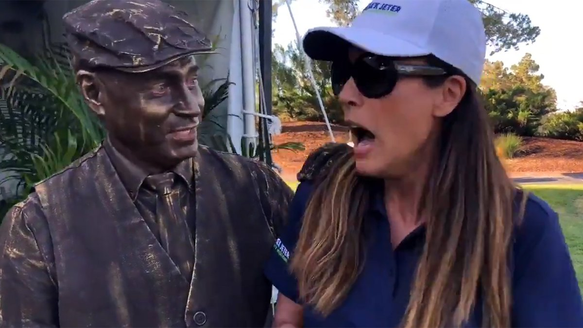 Watching celebs at the #DJCI get scared by a living 'statue' is by far the best thing you'll see today.  We promise: https://t.co/6UIg5nBGMr