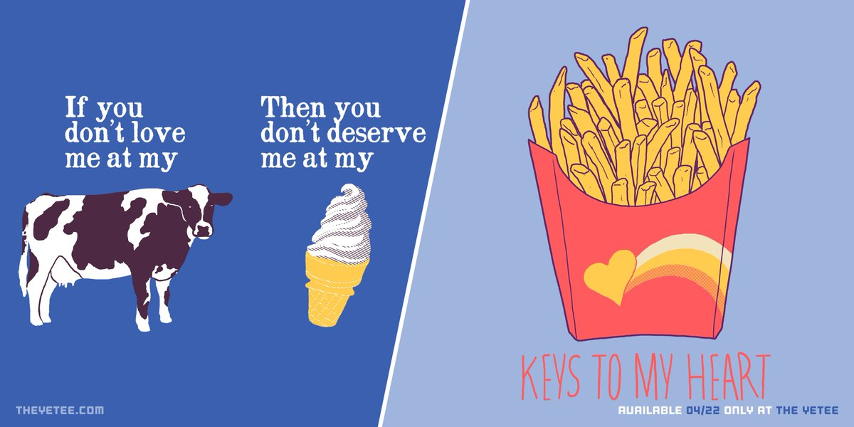 The yetee on twitter its sunday treat yourself to some french treat yourself to some french fries and ice cream today heck maybe even dip your french fries in some ice cream get wild out there httpbuffx20m9d solutioingenieria Images