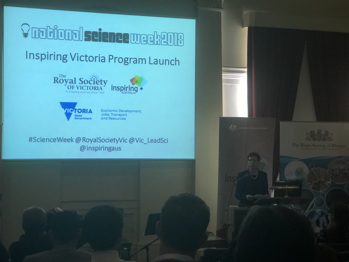 Inspiring Victoria Program Launch is bringing #STEM to all Victorians, not just Melbournians #ScienceWeek @RoyalSocietyVic @Vic_LeadSci @inspiringaus <br>http://pic.twitter.com/y5NbOI5HqZ