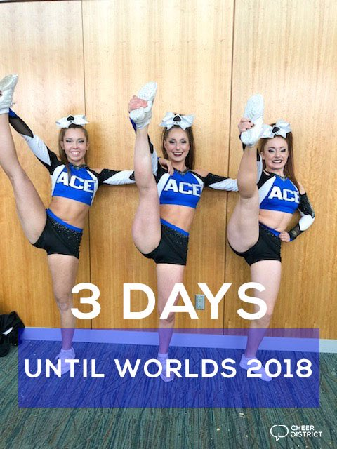 3 DAYS UNTIL WORLDS: what team are you MOST excited to see?! 😍#WORLDS2018 #CheerDistrict