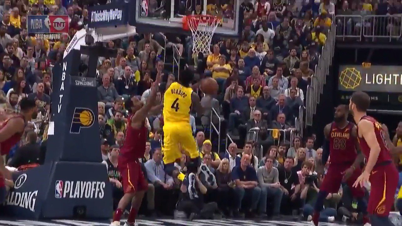 Victor Oladipo spins his way to the cup! ��️  #Pacers   ��: @NBAonTNT https://t.co/jHsQtC4K7M