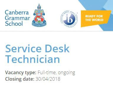 We're seeking a full-time Service Desk Tech to start on 9 May. Are you experienced to work w audio visual & networking staff, software specialists & other service desk staff, responding to technical needs of staff and students? If so, learn more & apply at https://t.co/KyBd3YsfCB