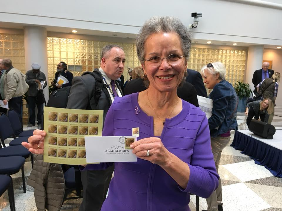 Pls be sure to buy &amp; promote the #AlzheimersStamp which is available @ most post offices, online @  http:// usps.com  &nbsp;    &amp; by phone @ 1-800-STAMP-24. Proceeds go to the @NIH for #Alzheimers #research. Our chances of extending it from 2 to 8 yrs will depend on its success. <br>http://pic.twitter.com/I7IwGlRGqR