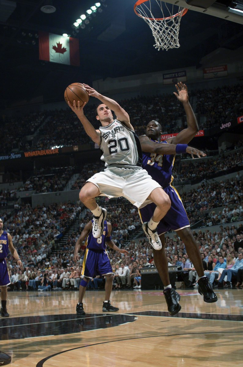 Manu Ginobili played in his 217th Playoff game, breaking a tie with @SHAQ for eighth in @NBAHistory. Next up: @kobebryant (220). LeBron James is playing in his 221st Playoff game (sixth all-time) @cavs @Pacers @NBAonTNT now