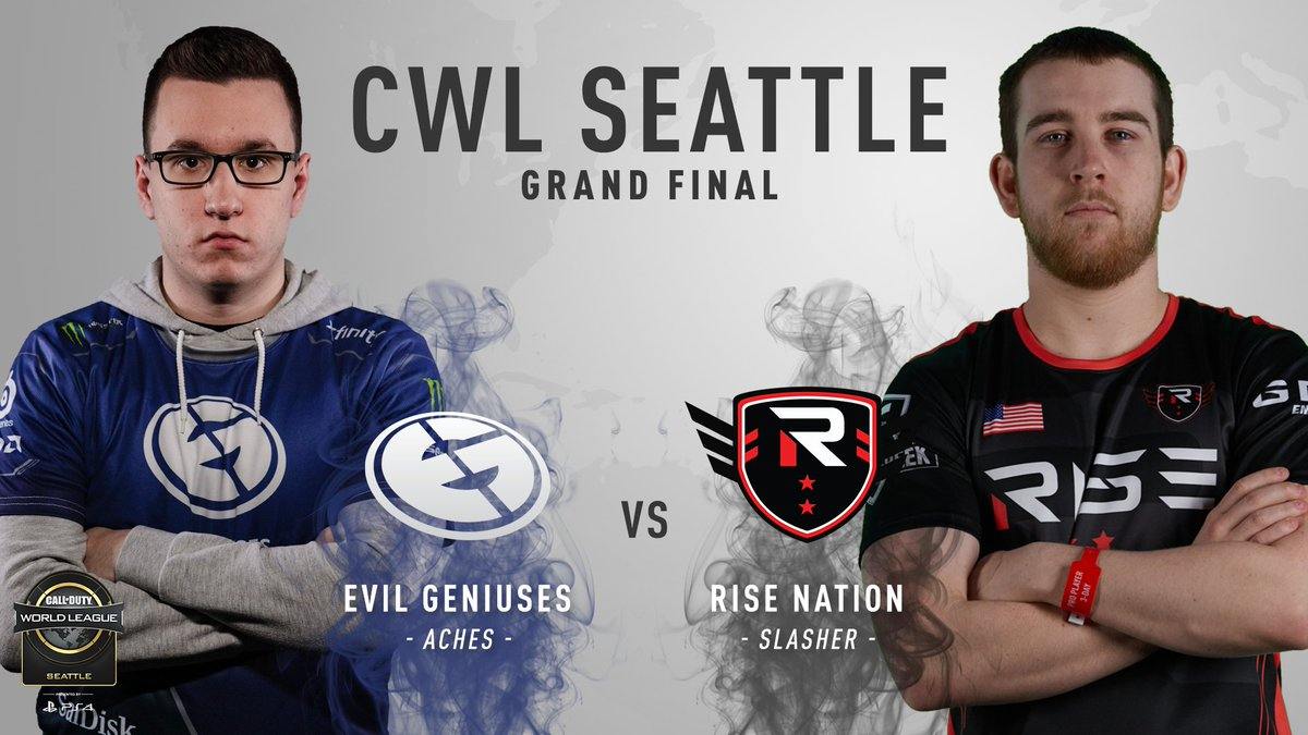 The final Best of 5 for the championship: @EvilGeniuses vs @TheRiseNation for the top prize at #CWLPS4 Seattle! https://t.co/NKHQSgV6Gh