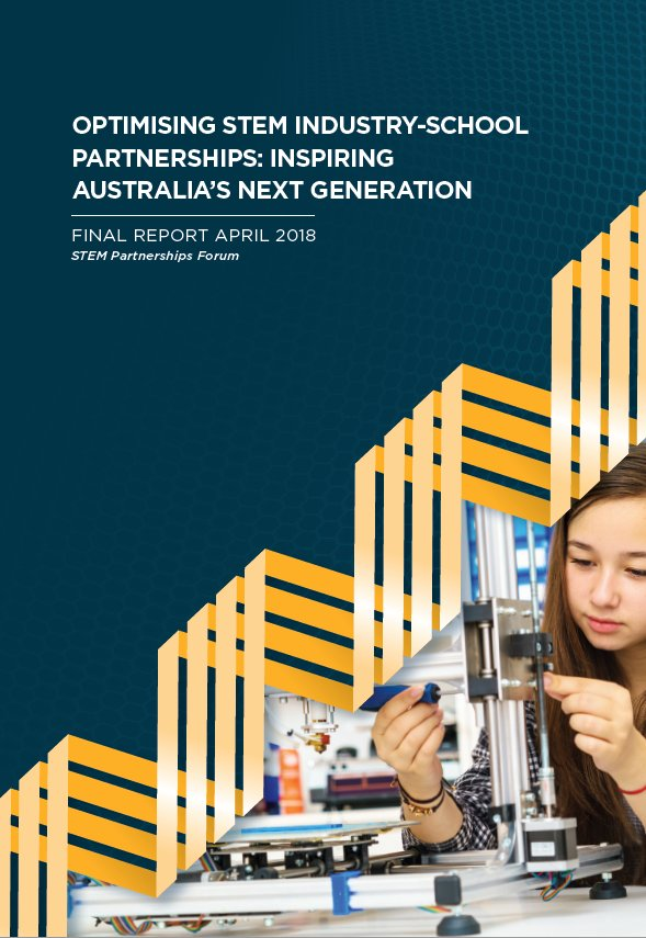 &quot;STEM education that is relevant and high quality is key to Australia&#39;s future...This report is about making the most of these partnerships to best benefit schools, students and industry&quot;. Read Dr Finkel&#39;s report to COAG Education here  https:// bit.ly/2F7KquV  &nbsp;   #STEM #Aus2030Plan<br>http://pic.twitter.com/rkjnisoaFq