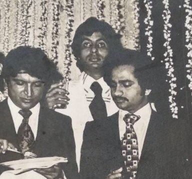 """Javed Akhtar on Twitter: """"With @SrBachchan and #Ramesh Sippy at party after  the premiere of SHOLAY in Bangalore… """""""