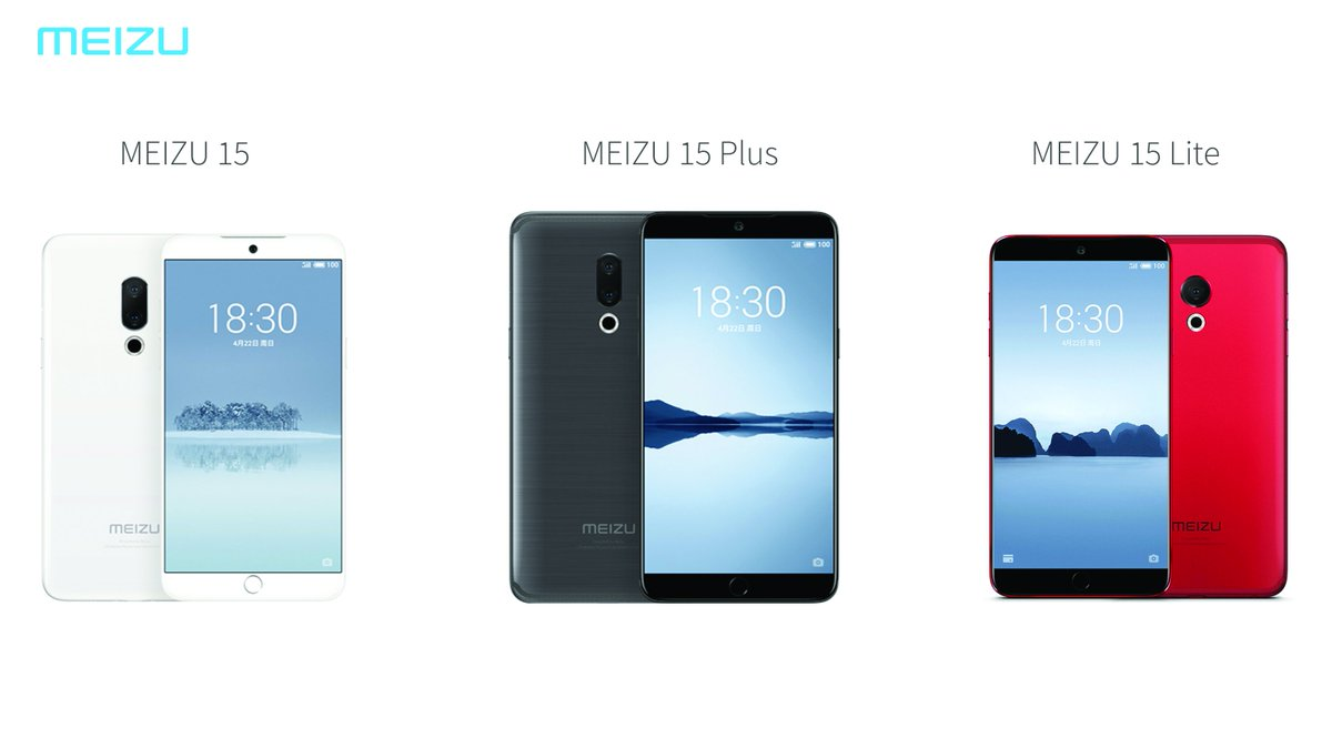 Meizu 15, Meizu 15 Plus and Meizu 15 Lite Launched