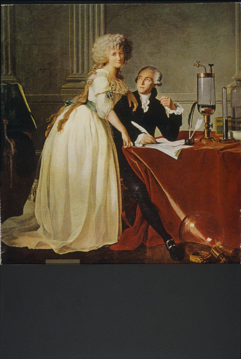 """MuséedesArtsMétiers on Twitter: """"Marie-Anne Pierrette Paulze, moins connue que son mari Antoine #Lavoisier, n'en fut pas moins une #scientifique talentueuse qui s'illustra dans le domaine de la #chimie. Sur ce #portrait de #"""
