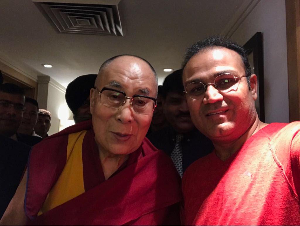 Privileged to meet and have darshan of His Holiness Dalai Lama !