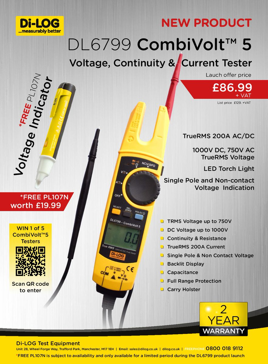 Dc Or Ac Voltage Indicator Els Kent On Twitter Now In Stock Call To Purchase Your New Diloggroup Dl6799 Combivolt5 Continuity Current Tester With Free Pl107n Worth 1999