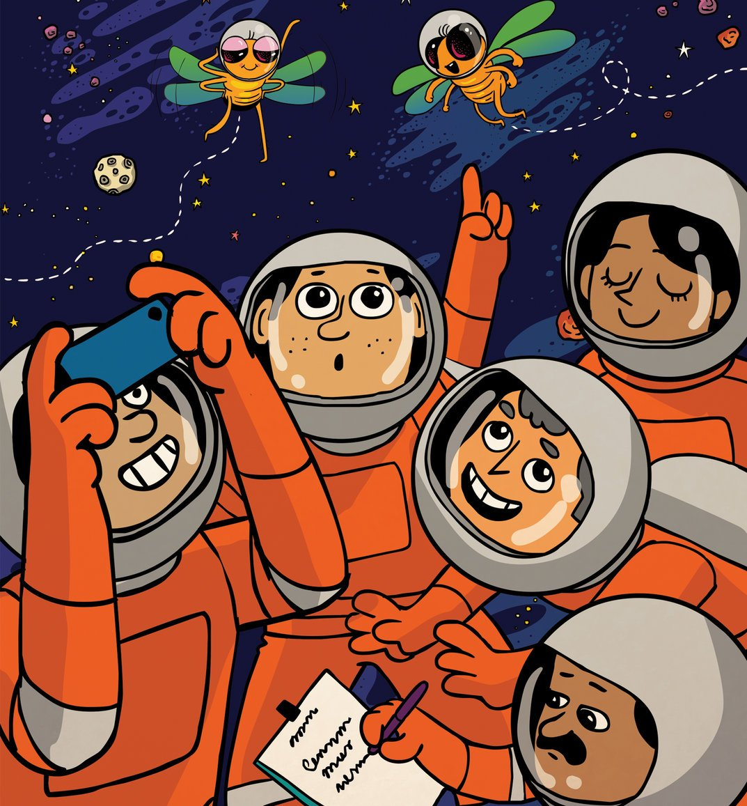 NEW #STEM STORY ALERT: &#39;Fly in Space&#39; follows two fruit flies born on earth but raised in space! Written by @OrganicInfinity and illustrated by Fahad Faizal, you can read, download, print and share the story for free on StoryWeaver!<br>http://pic.twitter.com/Cr1pKQX9CK