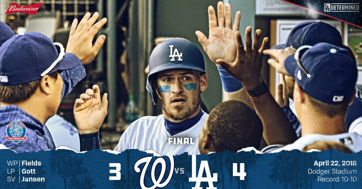 RECAP: #Dodgers rally for series victory, 4-3.   ��: https://t.co/JOOaUVU1tz https://t.co/Fccwexi4QY
