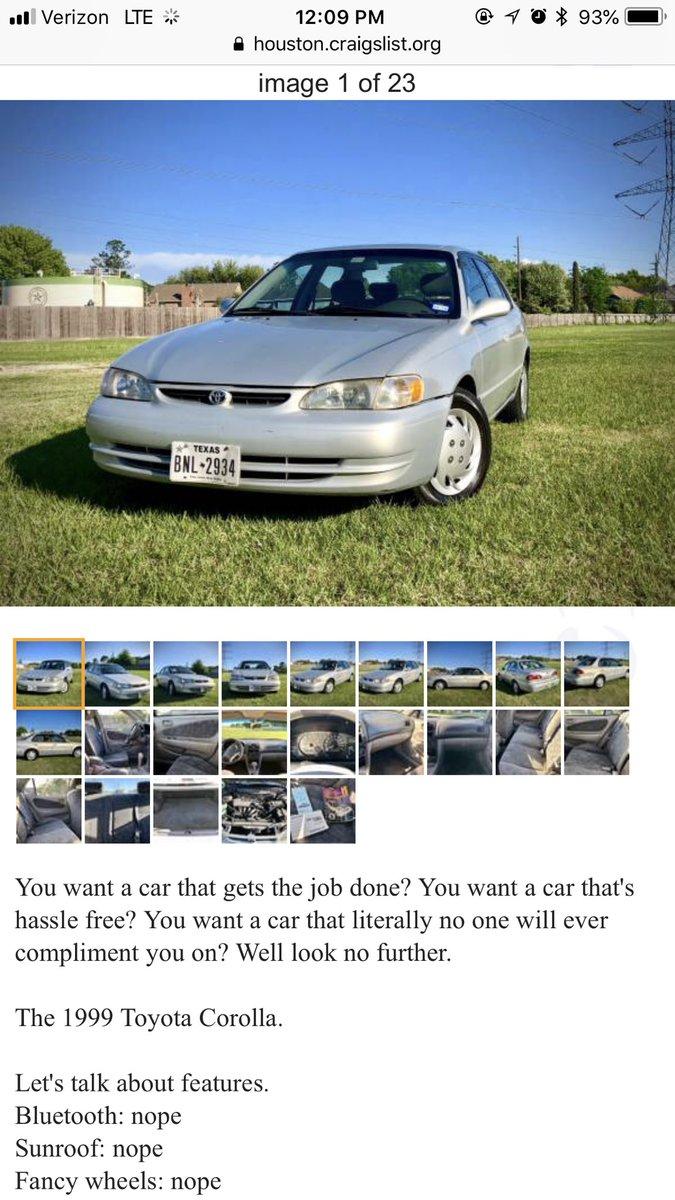 Brendan Tokarski On Twitter The Fine Af 1999 Toyota Corolla Wasn