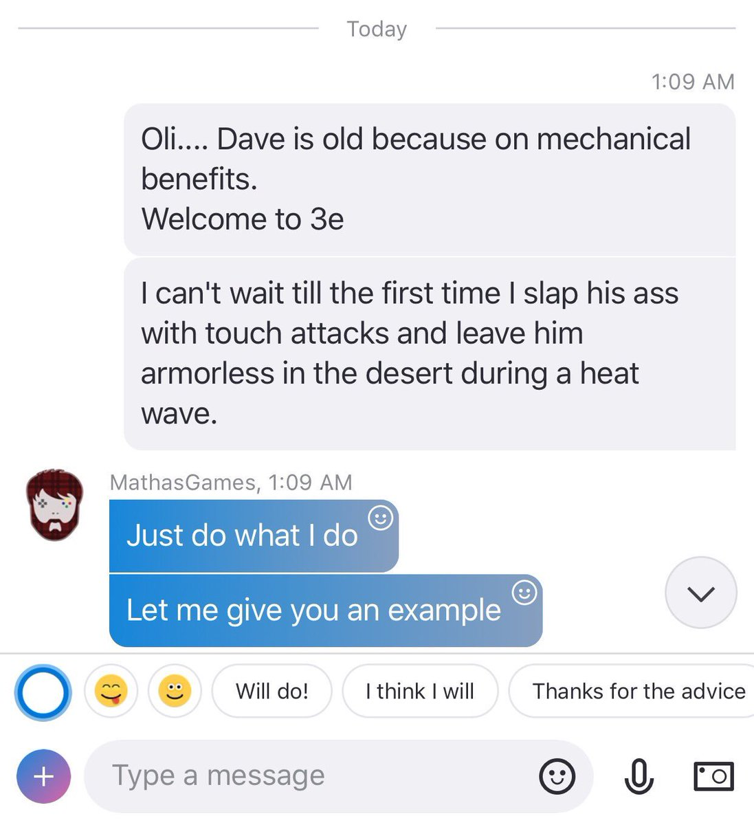 ....... Poor @Daelric