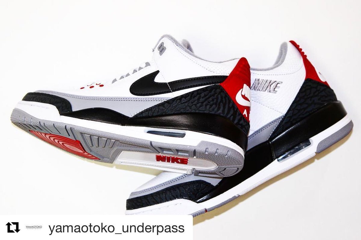 Repost  yamaotoko underpass with  get repost ・・・ JORDAN BRAND AIR JORDAN 3  RETRO TINKER NRG AQ3835-160 WHITE BLACK-FIRE RED-CEMENT GREY ¥22 b54c3d8a9e0f