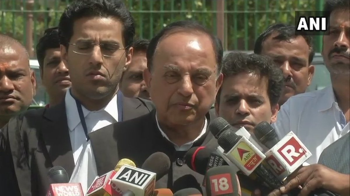 He has decided correctly. He need not have taken two days to make the decision. It should've been considered null and void & thrown out from the beginning. Congress committed suicide by doing this: Subramanian Swamy on rejection of  not#ImpeachmentMotionice againt CJI Dipak Misra