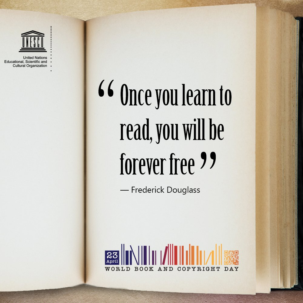 23 April is #WorldBookDay📚!  Let's highlight today the power of books to promote open & inclusive knowledge societies.  ℹ️ https://t.co/MjMQG6JGxW