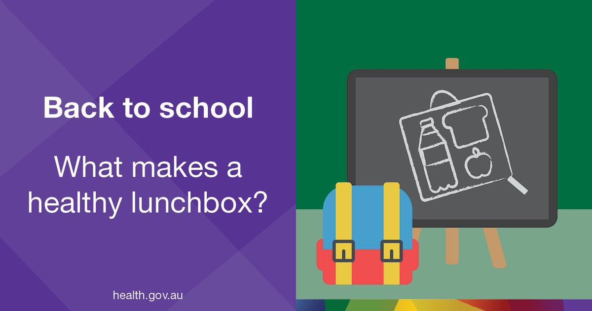[Back to School] A healthy lunch box gives your child the energy to concentrate, learn & play all day. For ideas: https://t.co/OVYmWln67u