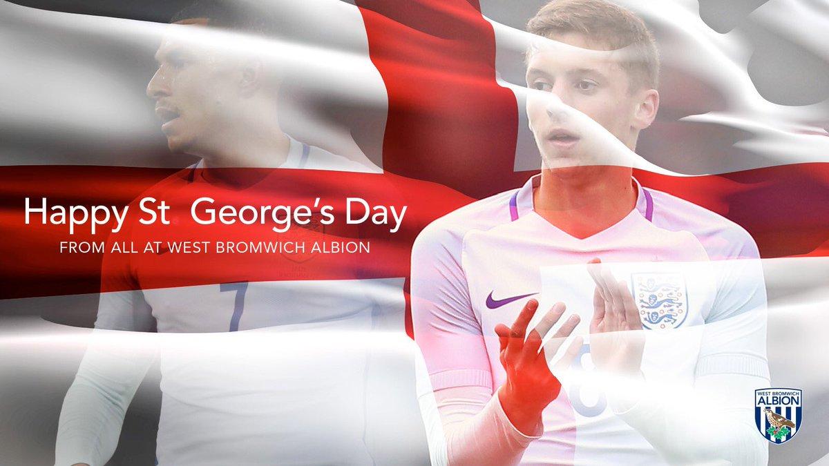 📷 Happy #StGeorgesDay 🏴   #WBA