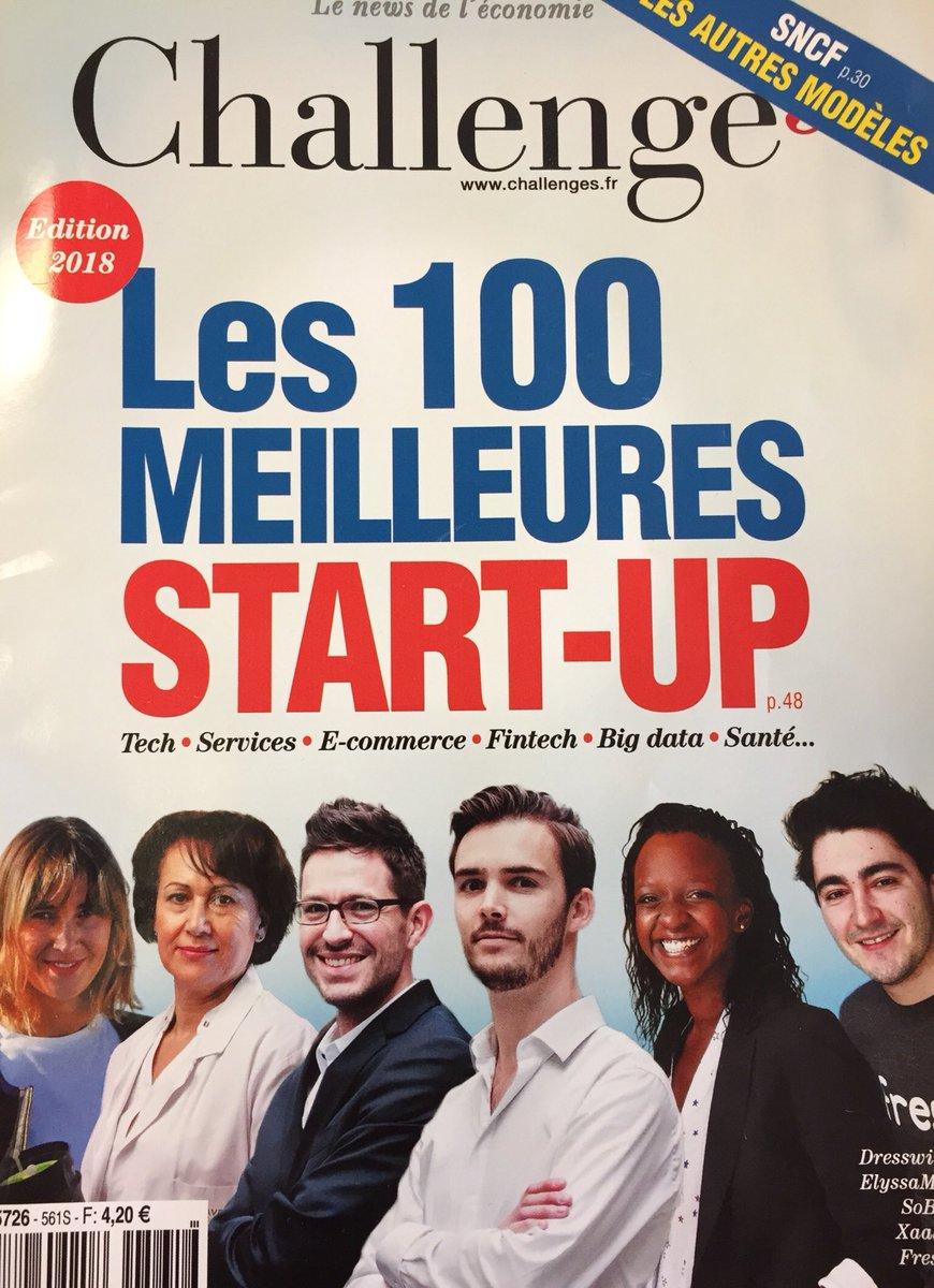 Après @Skeyetech l'an passé, c'est au tour de @Check_Kit de figurer parmi les 100 #startup où investir en 2018 via @Challenges ! Félicitations à l'équipe ! 🚀👏 #foodtech #iot #TechnoStart