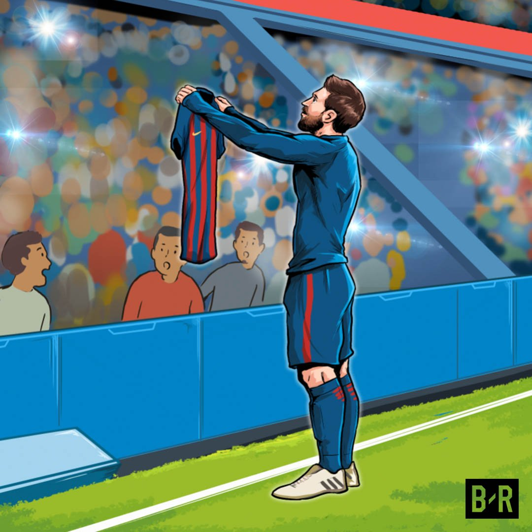 One year ago today.  Messi. El Bernabeu....