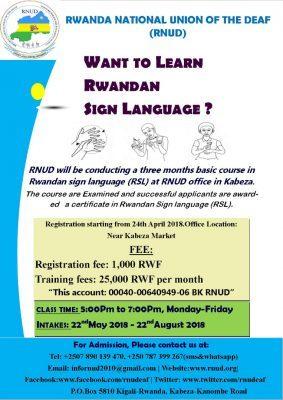 Rwandan Sign Language