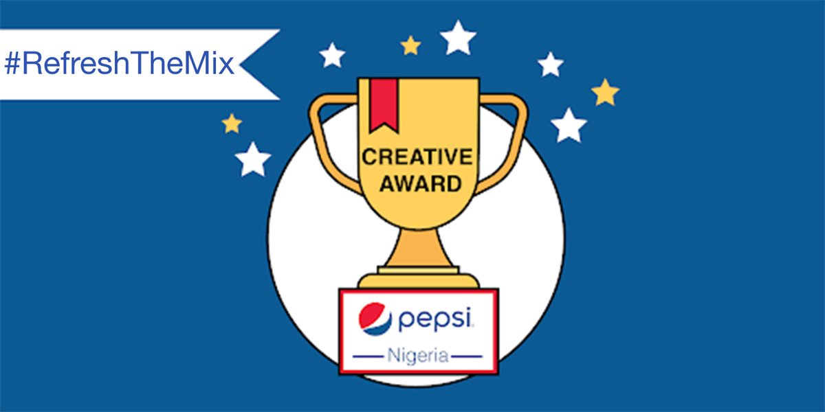 Congratulations to @Pepsi_Naija for winning the #CreativeAward for their #RefreshTheMix campaign.  Stay tuned for our next winner ! <br>http://pic.twitter.com/e19GCqM6Vf