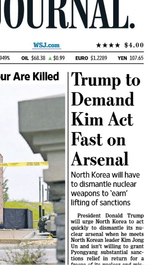 Big @WSJ scoop on how Arsene Wenger's replacement at @Arsenal will be central to upcoming Trump-Kim summit.