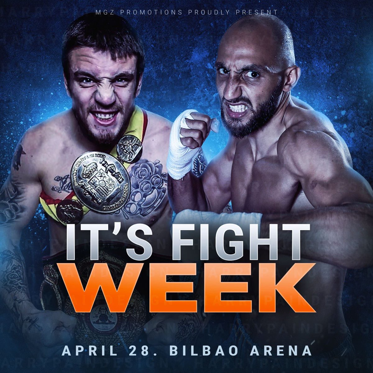 Well it's finally here! Fight Week! The countdown is on. Saturday 28th April I'll be fighting the unbeaten Spanish champion @LejarragaKerman for the vacant European Welterweight title @MGZ_Promotions at the @Bilbao_Arena 🇪🇸vs🇬🇧 🥊🔥