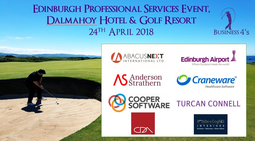 Our #MondayMotivation is building the excitement ahead of tomorrows @BusinessFours #Edinburgh #Professionals #Golf Event alongside @EdinChamber @scotlandis @ScotFinEnt   Really looking forward to seeing who qualifies for our national #Final at @FairmontStA on 30th May<br>http://pic.twitter.com/ZBIspwvAm8