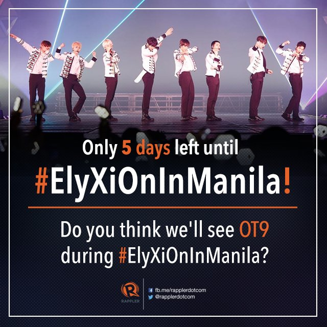 Will there be an OT9 comeback soon? Only 5 days left until #ElyXiOnInManila, EXO-Ls! @weareoneEXO