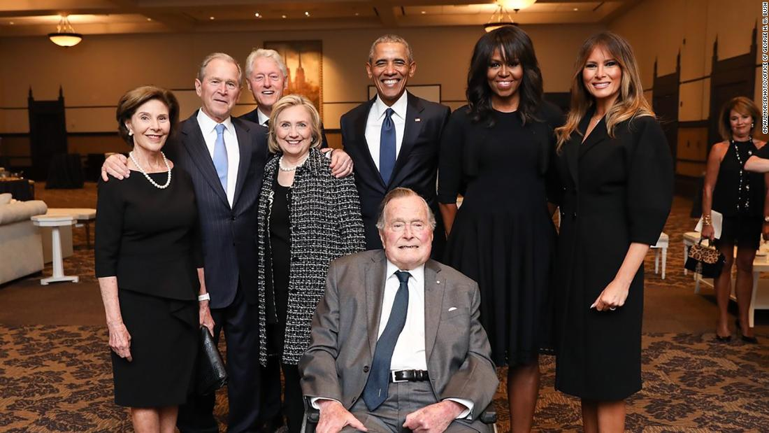 Four presidents come together to pay tribute to former first lady Barbara Bush https://t.co/HoJCP2p9f5 https://t.co/80HZuY0wJi