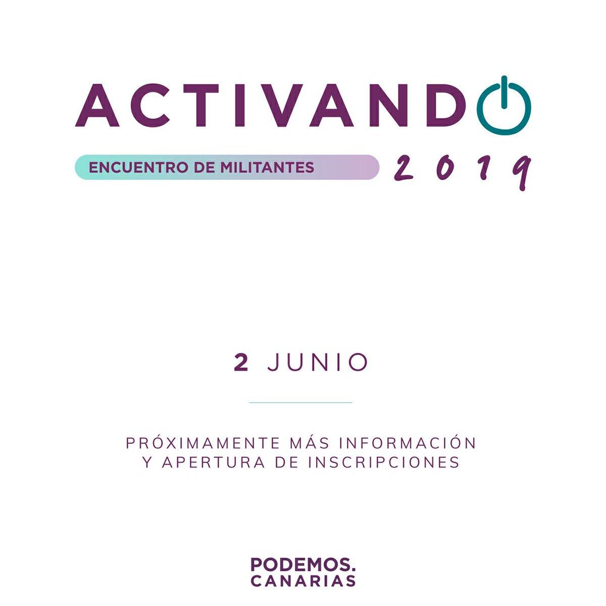 ¡El próximo 2 de junio nos vemos en Gran Canaria! 🙋🙋 #Activando2019