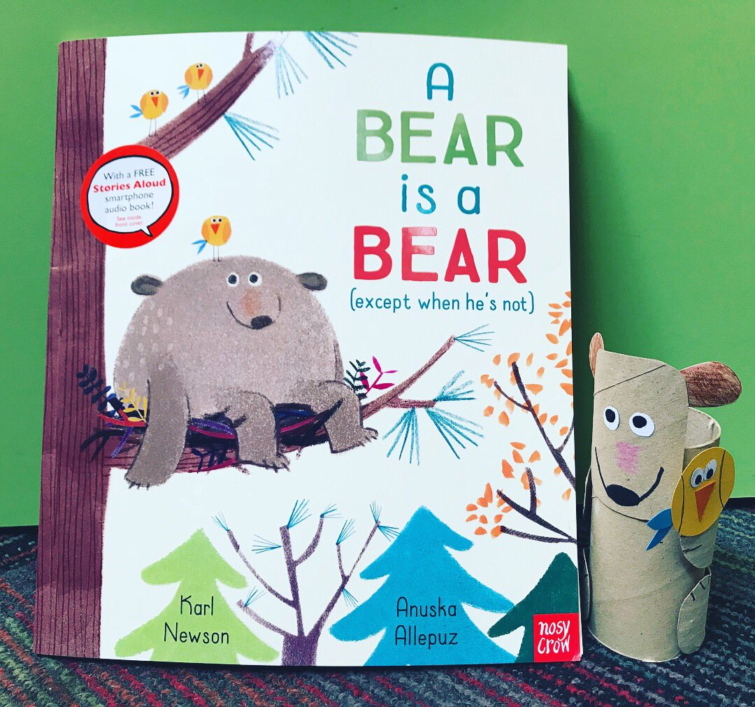 This week's #library #storytime will be the brilliant A Bear is a Bear (except when he's not) by @Karlwheel #AnuskaAllepuz &amp; @NosyCrowBooks  We're making kitchen roll bears!  I can't wait to read this fab rhyming future classic to our group!  #BookMonsters<br>http://pic.twitter.com/dvSF8i5sx7