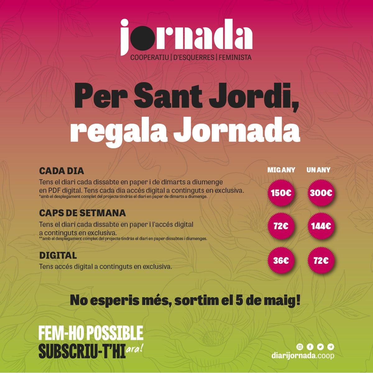 Fem-ho possible! Per #SantJordi subscriu...