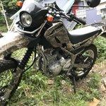 カモフラ率100%w盗難対策にバイクのカバーをギリースーツ化させるバイカー!