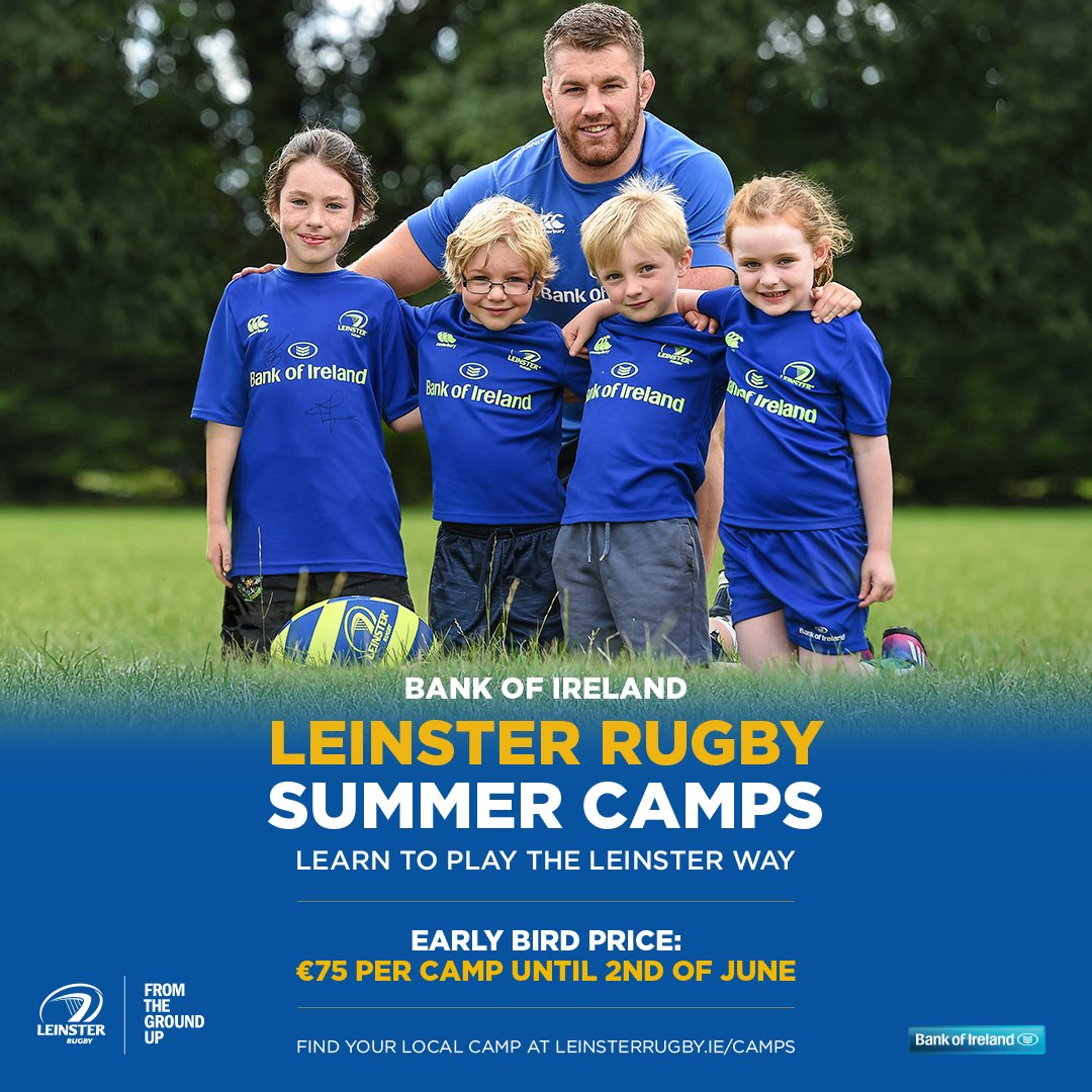 Where has that sunshine gone  Bring on our Leinster Rugby Summer Camps!!Have you booked into one of our 28 summer camps happening around the province;  https://www. leinsterrugby.ie/tickets/summer -camps/ &nbsp; …    #FromTheGroundUp #BOIrugby<br>http://pic.twitter.com/0f2s0MLIvD