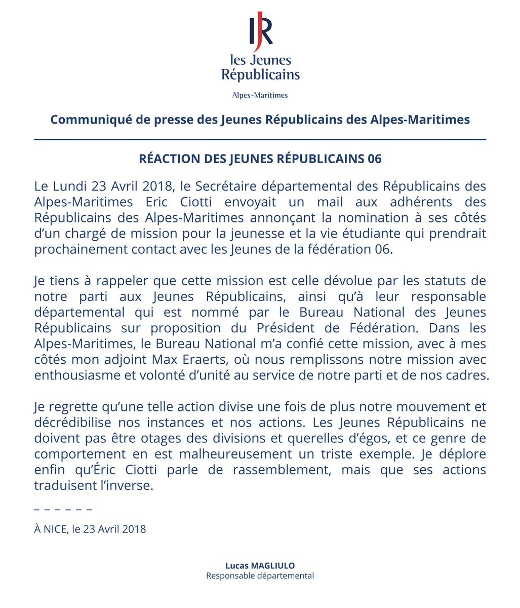 Jeunes Republicains 06 On Twitter Suite A La Nomination