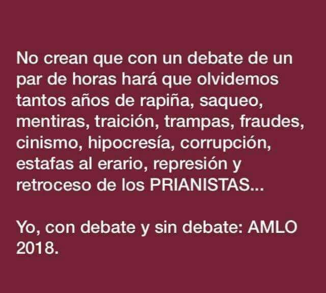 #FelizLunes Yo, con debate o sin debate...
