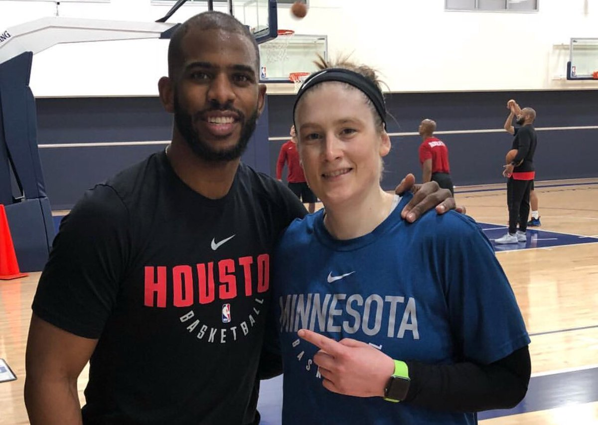 Point guards! #WatchMeWork  @Lindsay_13 preparing for @MinnesotaLynx season tip-off on May 20, @CP3 preparing for tonights @HoustonRockets-@Timberwolves Game 4!  📷: @MinnesotaLynx