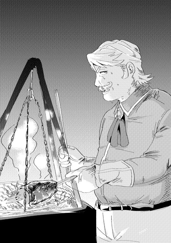 【リクエスト】肉を焼くゴルドルフ新所長