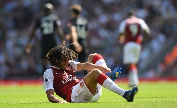 Arsenals statement on Elnenys injury: Further to assessments and scans, we can confirm that Mo has sustained ligament damage to his left ankle. We are hoping that Mo will be available again this season. Further updates will be made in due course.